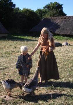 Barna gjeter gjess / Herding the gees