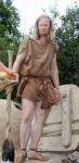 Espen i jernaldersommertøy / Espen wearing Iron Age summer clothing