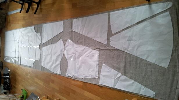 4,8 m stoff skal forvandles til en kjortel