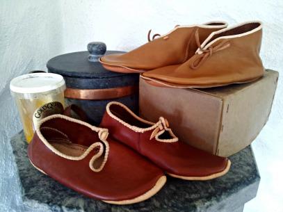 Ferdige sko, klar til smøring