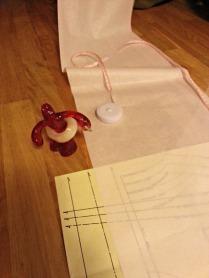 Mønster på matpapir, da må teipen frem