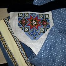 Bringeduken før montering / Breast cloth before assembling