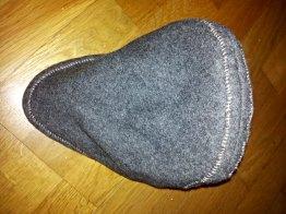 De nedlagte sømmene gir bedre fasong / The seams are sewn down to give better shape