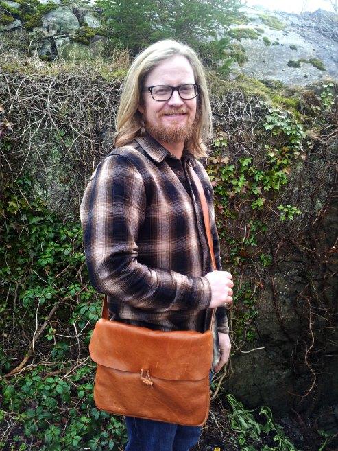 Espen har fått seg ny manneveske / New man purse