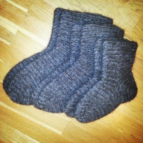 Tre par sokker i Brodéns sting / Three pairs of socks in Brodén´s stitch