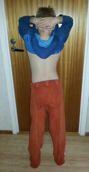 Det karakteristiske setepartiet på Thorsbergbuksen / The chatacteristic buttocks of the Thorsberg pants