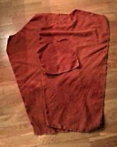 Buksen i løse deler / A pile of trouser parts