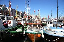På Torgdagen er det bare trebåter og tradisjonsbåter som får komme innerst i Vågen