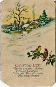 Christmas cheer fra familie i Amerika i 1929 / Card from America in 1929