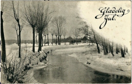 Vakkert vinterlandskap i 1915 / Winter landscape