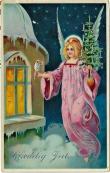 Engel med juletre og sølvstjerner i 1923 / Angel with slilver decotation in 1923
