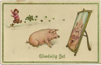 Glædelig jul, sa julegrisen... i 1914 / The Christmas pig, the celebrated Christmas meal in 1914