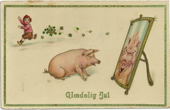 Glædelig jul, sa julegrisen... i 1914 / The Christmas pig, the celebrated Christmas meal in 1914