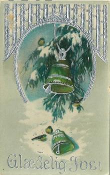 Julebjeller med sølvtrykk i 1922 / The bells are ringing 1922