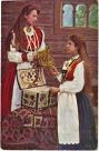 Julehilsen på nasjonalromantisk kort i 1910 / National romance in 1910