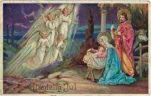 Engler og julekrybbe i 1923 / In Bethlehem 1923