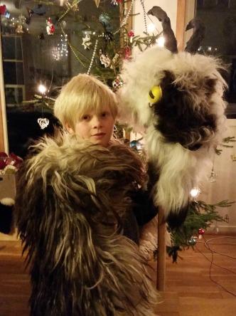 Malvin vil gjerne være bukken / Malvin has voluntered to be our Yule Goat