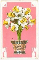 Nok et påskekort fra samlingen, dette er fra 1910 - God påske! / Easter greeting from 1910