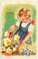 Påskekort fra oldemor og oldefar sin samling, fra 1942 / Easter greeting from 1942