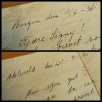 Kjærlighetsbrev anno 1921 / Love letters from 1921