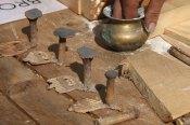Nyproduserte bronsekammer / Bronze combs