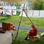 Greit å ha tak under regnbygene søndag / Nice to have roof when it rains, and it did rain sunday - a lot