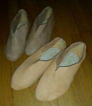 Nesten ferdige middelaldersko / Almost finished Medieval shoes