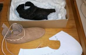 Sammenligning av original og testsko / Comparing test shoe and original
