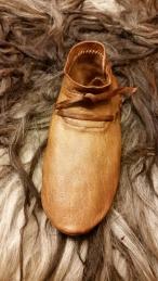 Ferdig sko, front / FInished shoe, front