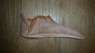 Klar for vrenging / Before turning the shoe
