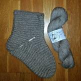 Ett av sokkeparene før toving / Before felting
