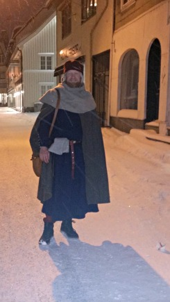 Snøføyk i middelalderbyen Tønsberg / A snowy day in Tønsberg