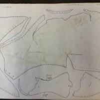 Arkivtegning av middelaldersko fra Tønsberg / Drawing of Medieval shoe from Tønsberg
