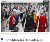 Bergens Tidende fanget opp gjengen i paraden / From a lokal newspaper: The morning parade
