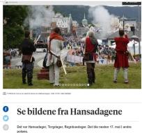 Bergens Tidende var også på plass på den ene salutten lørdag / Also from the paper: Salute on Saturday