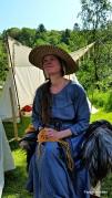 Hatten på hodet hele helgen / Lena wore her straw hat all weekend