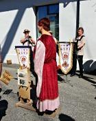 Før vi selv skulle på post fikk vi sett oss litt mer omkring på Hansamarkedet. Det var noen få deltagere som gikk i middelalderdrakter / A short visit to the Hanseatic Market saturday morning. A few other participants also wore Medieval clothing