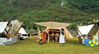 Leiren til kjentfolk fra Bergensområdet / The camp of some of our friends from around Bergen