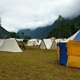 En del av teltleiren / Some of the tents