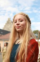 Oline jobbet som dronning Ingeborg / Oline at work as queen Ingeborg
