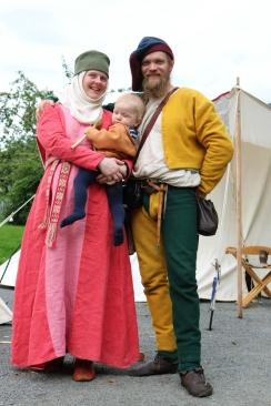 En annen fortidsfamilie: Hege, Olav og Lars / Another Past Time Famiy: Hege, Olav og Lars