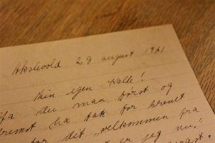 Min egen Kalle! Ja du maa først og fremst ha tak for brevet/ My own Kalle! First of all thank you for your letter