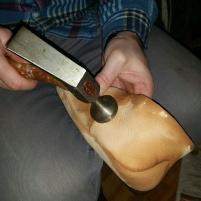 Banking av sømmer / Hammering seams