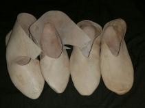 Vikingsko under produksjon / Viking shoes in progress