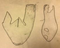 Dokumentasjonstegning av sko uten lukkeanordning / Drawing of the step-in shoe
