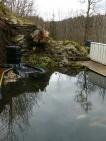Fiskedammen vår etter reparasjon / Our fish pond after restauration