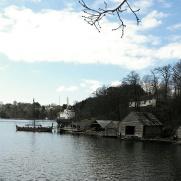 Vikingskipet og laget Haakon Haakonson er også et fast innslag / The Viking ship seen from distance