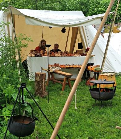Sammen med Stig hadde vi to telt og utsalg / Together with Stig, we had two market tents