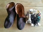 Nylig fargede støvler og lisser / Newly dyed boots and laces