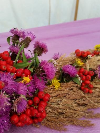 Bordpynt på bryllupsgildebordet / Wedding table decorations